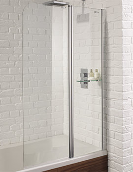 Venturi 6 900 x 1400mm Fixed Bath Screen