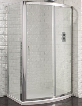 Venturi 6 1200mm Bow Fronted Sliding Shower Door