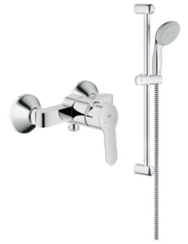 BauEdge Wall Mounted Shower Rail Kit