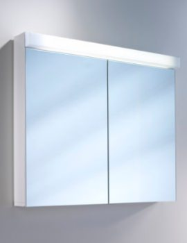 Lowline 2 Door Mirror Cabinet With LED Light - More Sizes Available