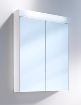 Lowline 60cm 2 Door Mirror Cabinet With LED Light