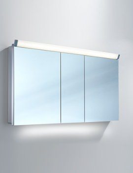 Lowline 130cm 3 Door Mirror Cabinet With LED Light