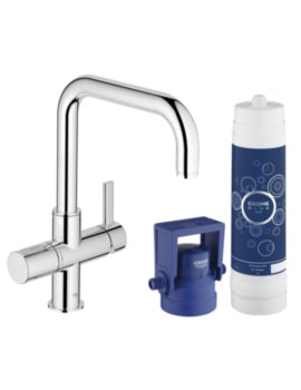 Grohe Blue Single Lever U-Spout Kitchen Sink Mixer Tap With Filter Function
