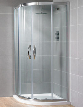 Aquadart Venturi 8 1200 x 800mm Double Door Offset Shower Quadrant
