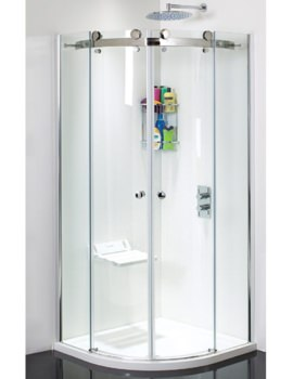 Motion Frame-less Twin Door Shower Quadrant 1000mm - SE100