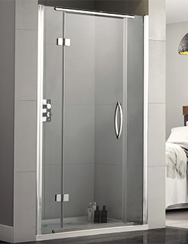 Inline 1200mm Recess Hinged Shower Door