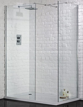 Aquadart Wetroom 8 Walk-In 900mm Shower Panel