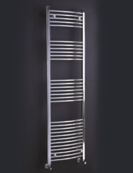 Gina Curved Designer Towel Rail 500mm x 1200mm - RA017