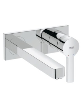 Lineare M-Size Wall Mounted 2 Hole Basin Mixer Tap
