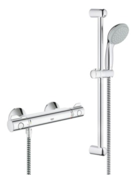 Grohtherm 800 Thermostatic Shower Mixer Valve with Kit