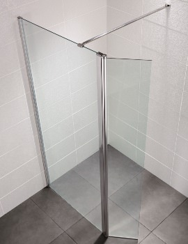 April Identiti2 1200mm x 1950mm Wetroom Glass Panel