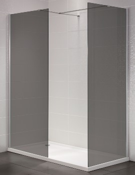 Identiti2 800mm x 1950mm Wetroom Smoked Glass Panel