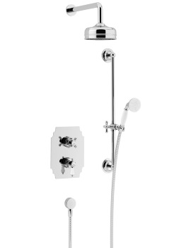 Glastonbury Recessed Thermostatic Valve With Head And Kit Chrome