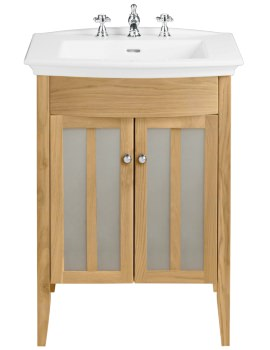 Hidcote Freestanding Oak Vanity Unit For Blenheim Basin