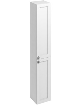 300mm Double Door Tall Base Unit Matt White