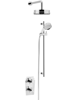 Heritage Gracechurch Recessed Thermostatic Valve With Fixed Head And Kit
