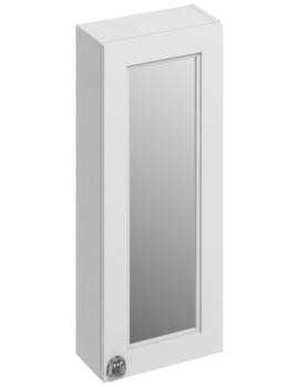 300mm Single Door Mirror Cabinet Matt White