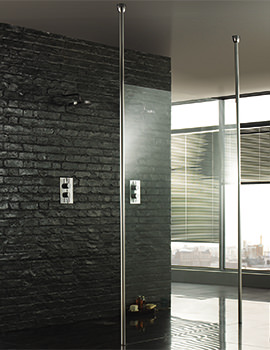Wetroom 8 Walk-Through 1000mm Shower Panel With Ceiling Posts