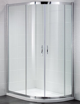 Identiti2 900 x 760mm Double Door Offset Shower Quadrant