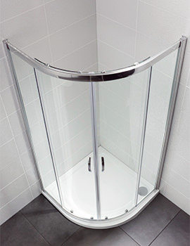 Identiti2 900 x 900mm Double Door Shower Quadrant