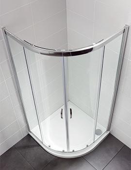 Identiti2 800 x 800mm Double Door Shower Quadrant