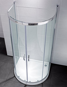 April Identiti2 915 x 1040mm U Shaped Double Door Shower Quadrant