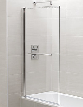 Identiti2 800 x 1400mm Square Single Panel Bath Screen