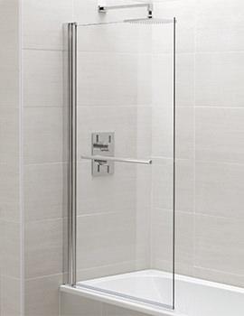 Identiti2 800 x 1400mm Square Single Panel Bath Screen