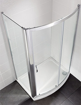Identiti2 1200mm Bow Fronted Sliding Shower Door