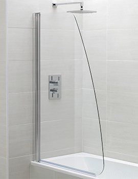 Identiti2 800 x 1400mm Sail Single Bath Screen