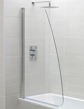 April Identiti2 800 x 1400mm Sail Single Bath Screen