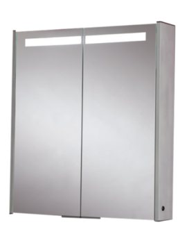 Double Door Aluminium Mirror Cabinet 630 x 700mm - MI032