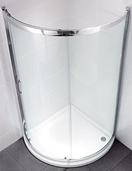 Identiti2 900 x 900mm Bow Fronted Single Door Shower Quadrant
