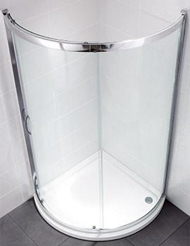 April Identiti2 900 x 900mm Bow Fronted Single Door Shower Quadrant