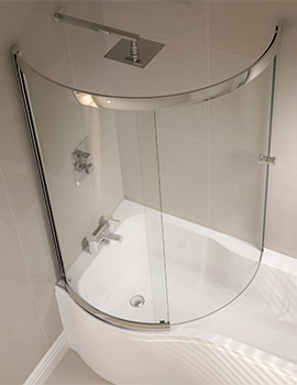 Prestige 984 x 1500mm P Shaped Sliding Bath Screen