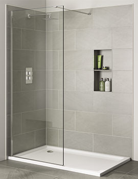 Prestige Frameless 700mm x 2000mm Wetroom Clear Glass Panel