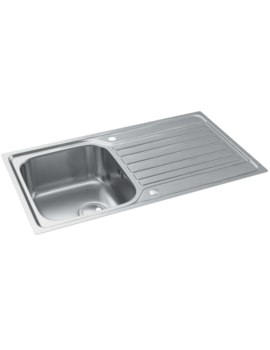 Connekt FlushFit Stainless Steel 1.0 Bowl Kitchen Sink With Drainer