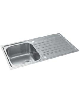 Connekt FlushFit Stainless Steel 1.0 Bowl Kitchen Sink With Drainer