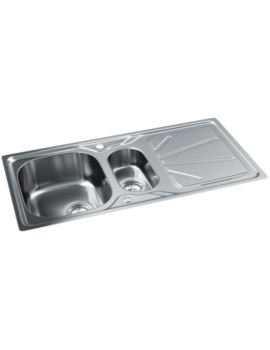 Trydent Stainless Steel 1.5 Bowl Kitchen Sink With Drainer