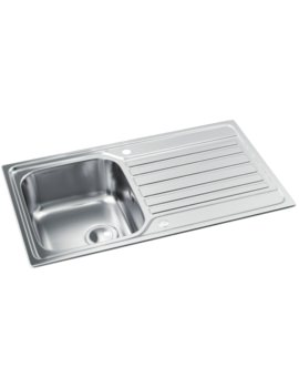 Abode Connekt Stainless Steel 1.0 Bowl Kitchen Sink With Drainer