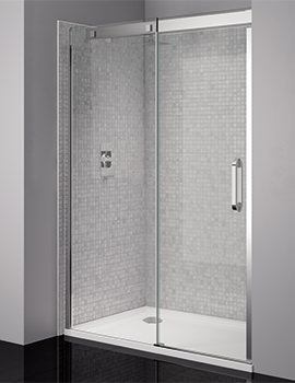Prestige Frameless 1200mm Clear - Silver Sliding Shower Door