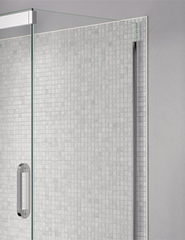 Prestige Frameless 760mm Clear - Silver Side Panel For Shower Enclosure