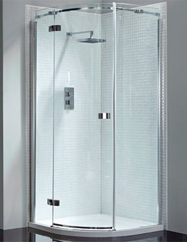 Prestige Frameless 900 x 900mm Single Door Shower Quadrant