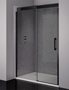 Prestige Frameless 1200mm Smoked - Black Sliding Shower Door