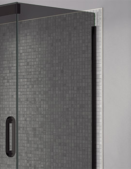 Prestige Frameless 760mm Smoked - Black Side Panel For Shower Enclosure