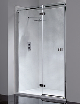 Prestige Frameless 1200mm Hinged Shower Door