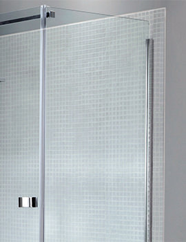 Prestige Frameless 800mm Side Panel For Shower Enclosure