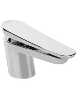 Claret Deck Mounted Single Hole Basin Mixer Tap White-Chrome