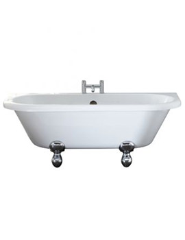 Kildwick 1700 x 750mm White Back-To-Wall Freestanding Bath