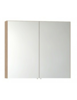 Vitra S50 Classic 1000mm Oak 2 Door Mirror Cabinet